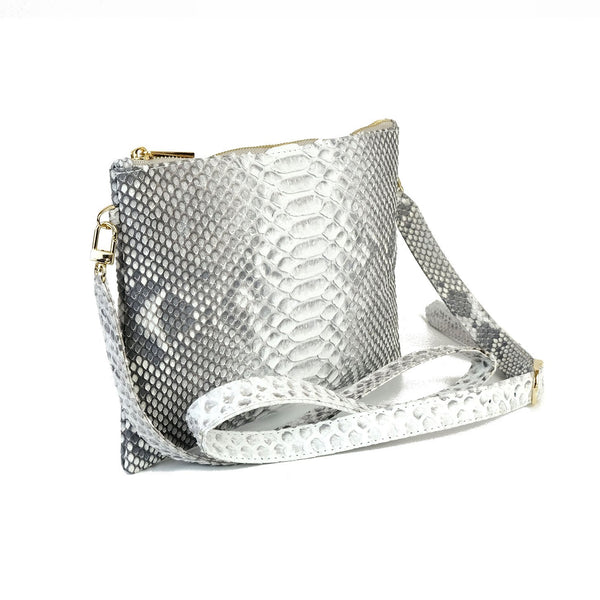 Snakeskin & Python Crossbody Sling bag - Natural | Urban Story