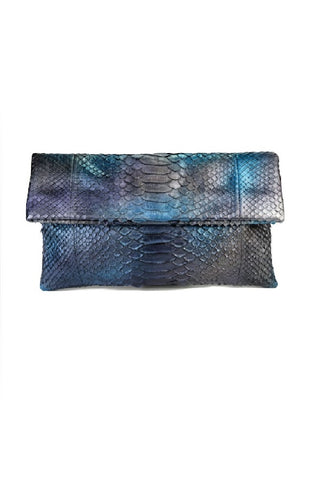 Mandalay Blue Aura Foldover Clutch