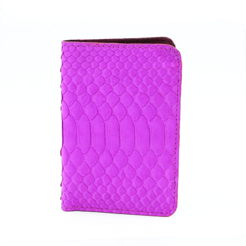 Hot Pink Python Passport Cover