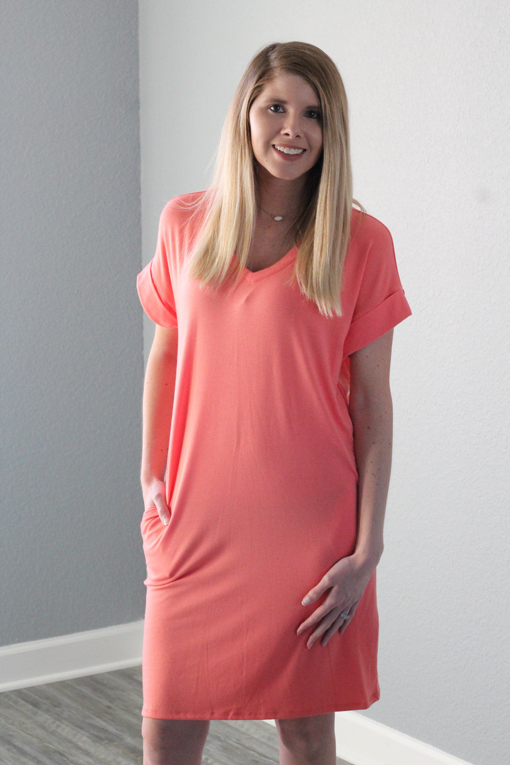 Sweetheart Dress (Coral)