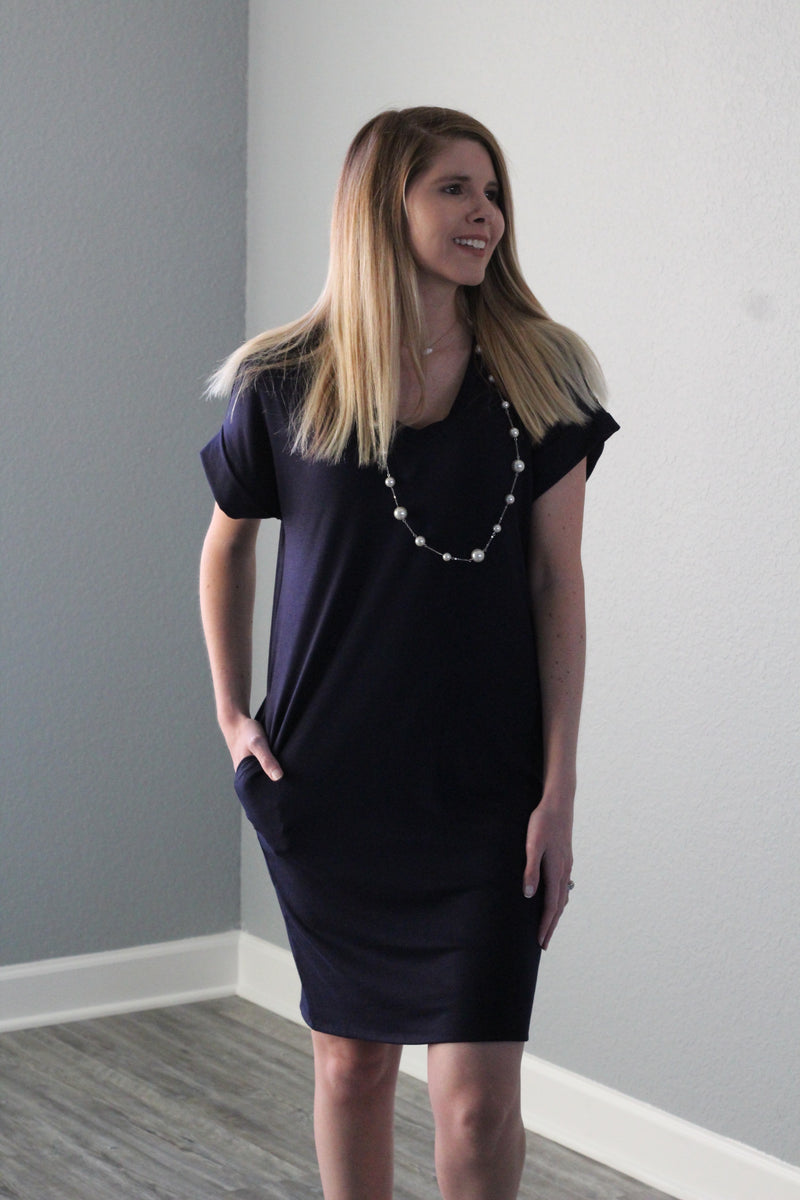 Sweetheart Dress (Navy)