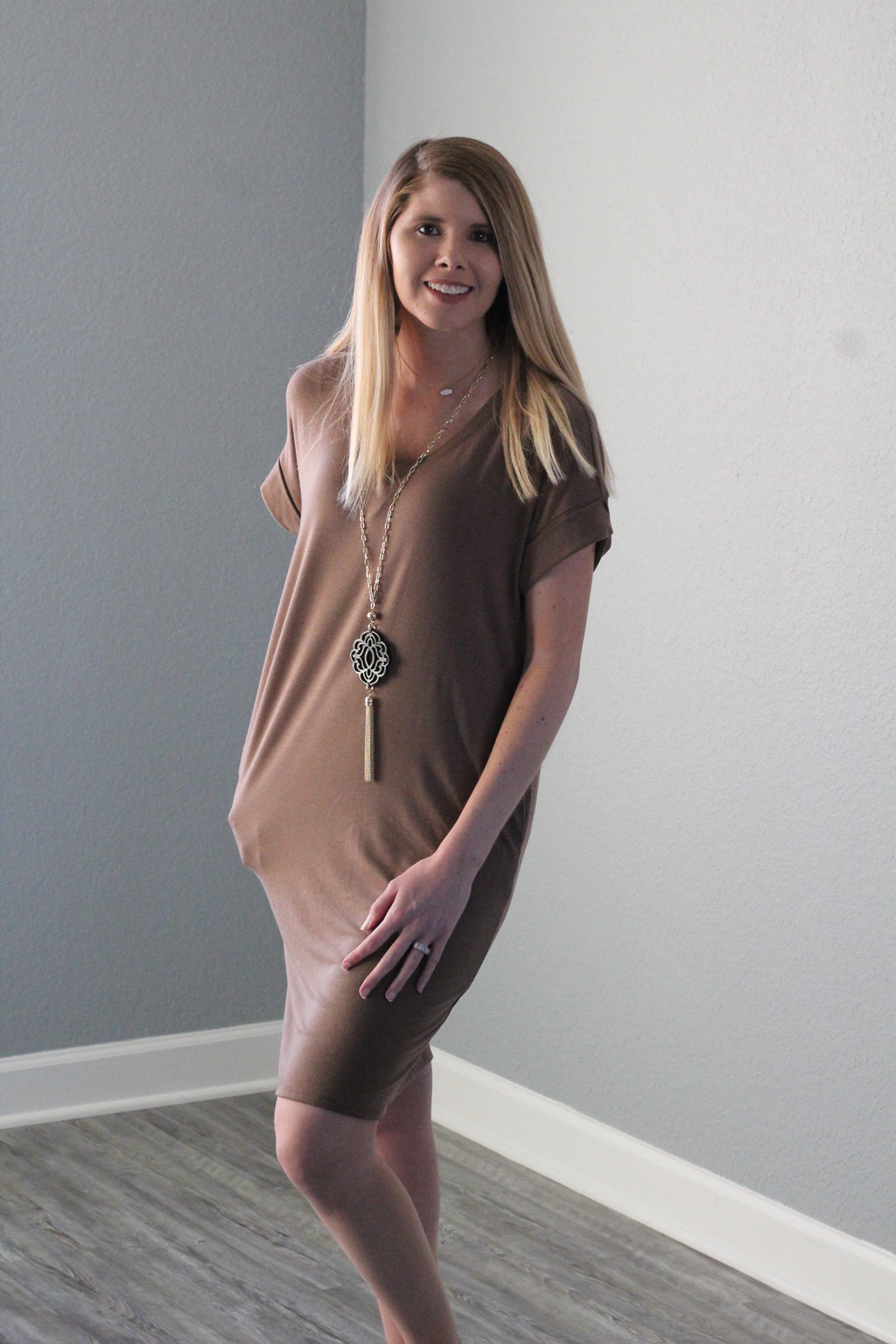 Sweetheart Dress (Light Brown)