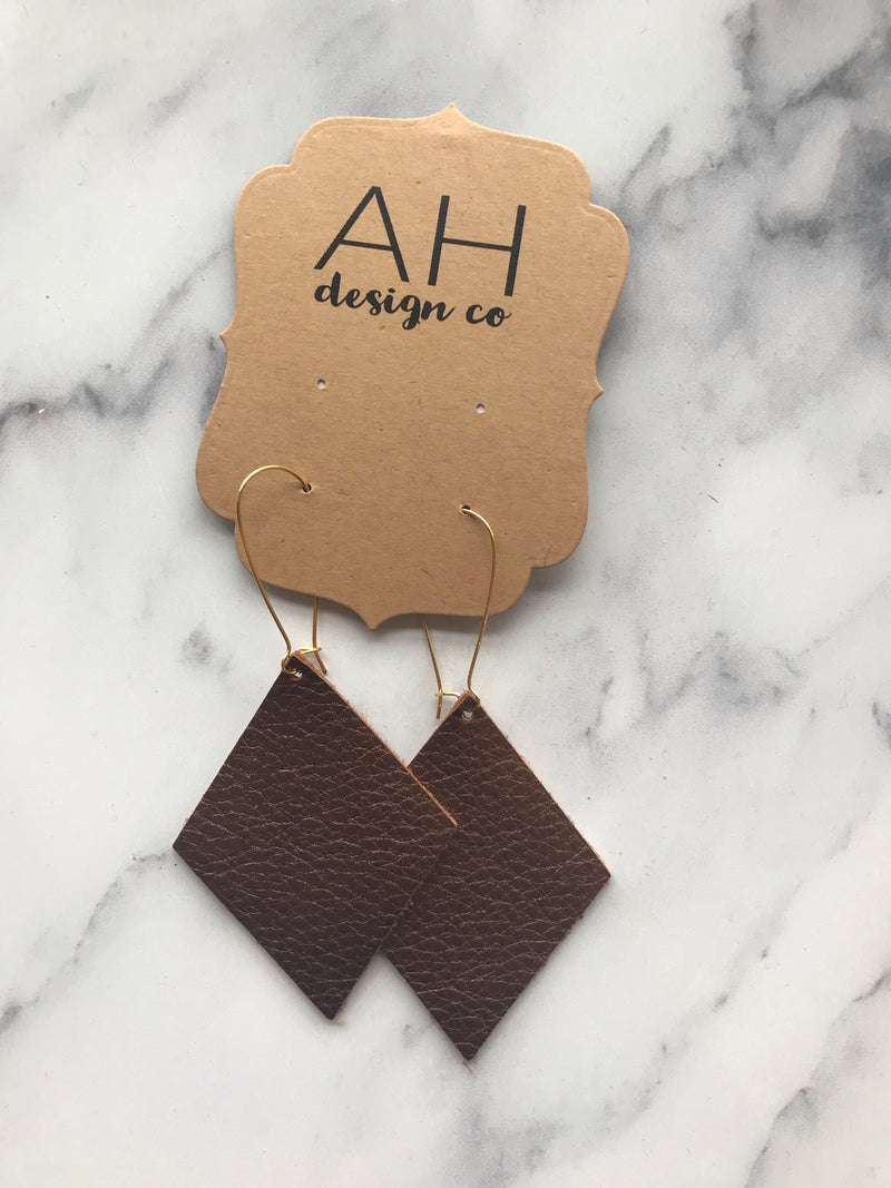 Brown Shimmer Earrings