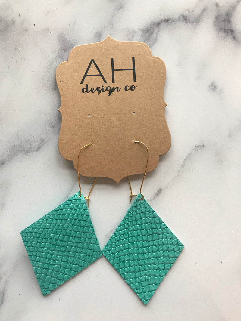 Teal Loving Earrings