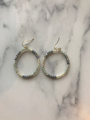 Grey Beadded Earrings