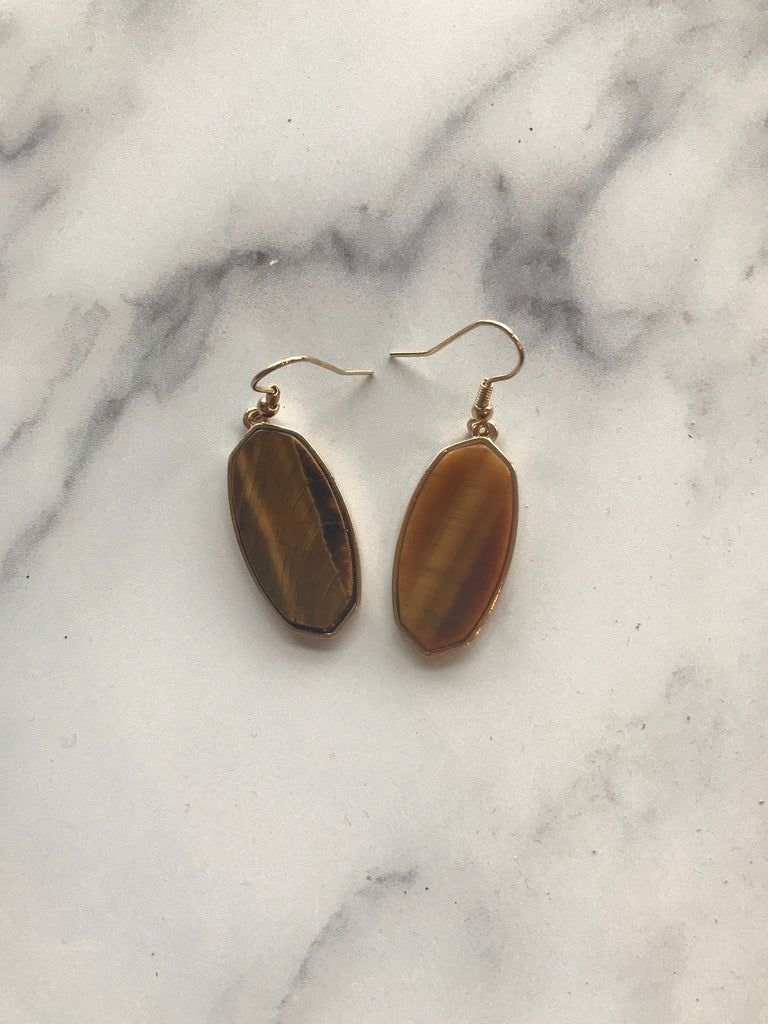 Wood Like Earrings