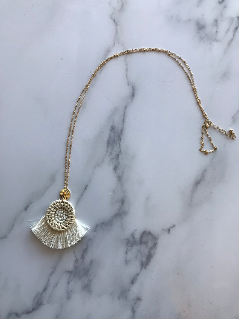 Ivory Tassel Necklace