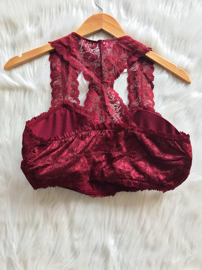 Burgundy Bralette (Larger Sizes)