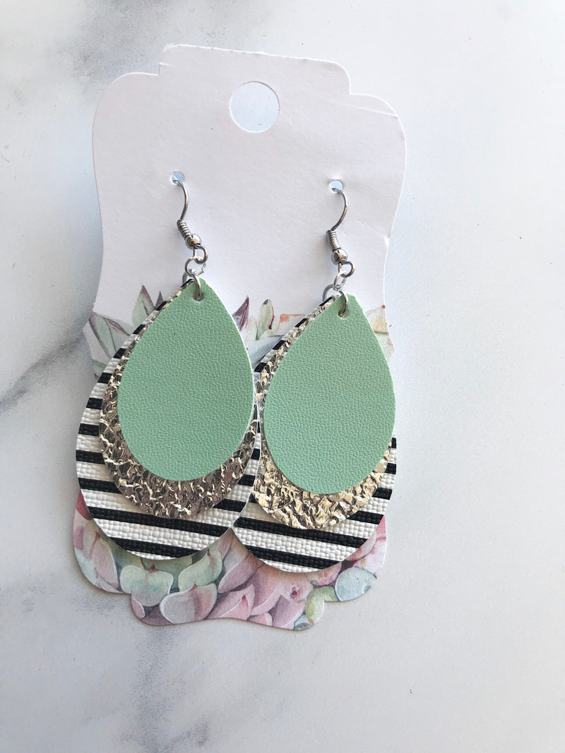 Mint Chimp Earrings