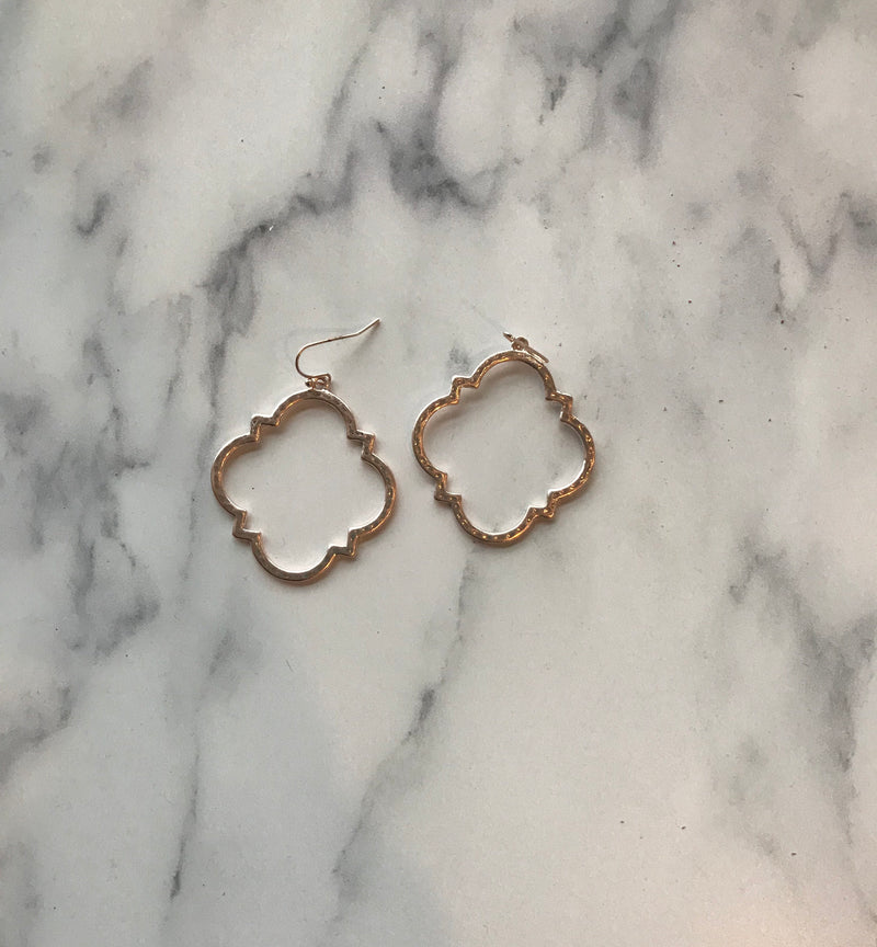 Rose Gold Quatrefoil