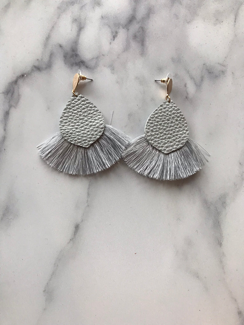 Silver Tassel Earrings