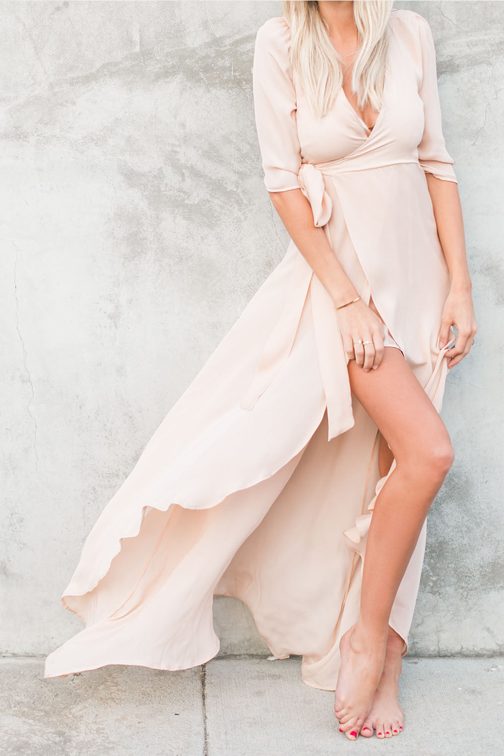 100% silk blush slip