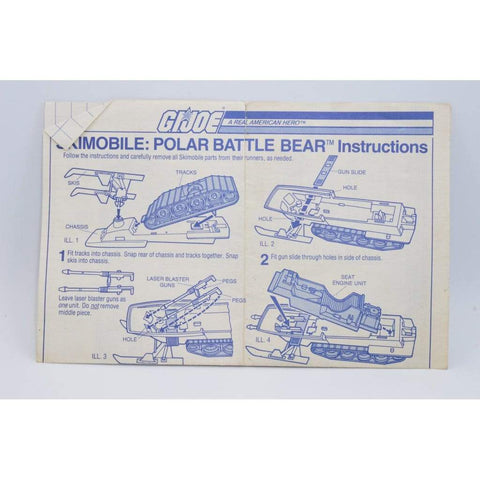 Hasbro Parts 1983 Polar Battle Bear Blueprints