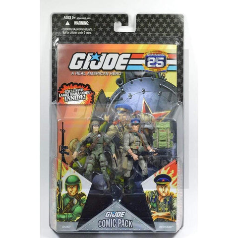 Image of Hasbro G.I. Joe Carded 25th Anniversary Comic Book 2 Pack