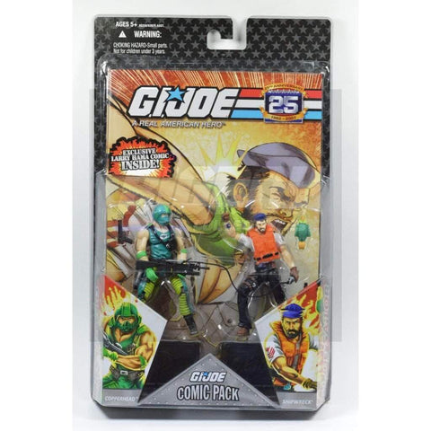 Hasbro G.I. Joe Carded 25th Anniversary Comic Book 2 Pack Copperhead & Shipwreck
