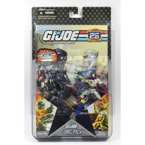 Image of Hasbro G.I. Joe Carded 25th Anniversary Comic Book 2 Pack - Snake Eyes & Storm Shadow