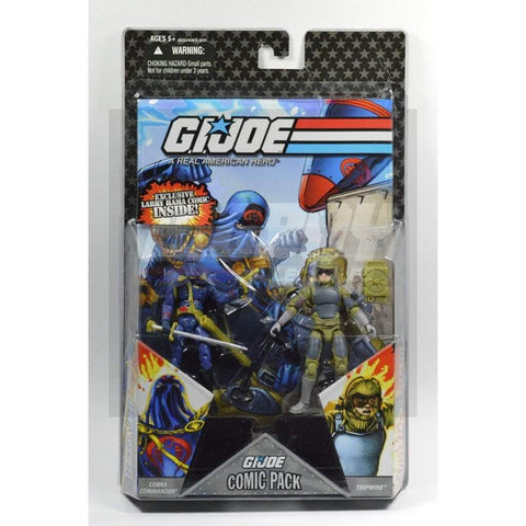 Hasbro G.I. Joe Carded 25th Anniversary Comic Book 2 Pack - TripWire & Cobra Commander