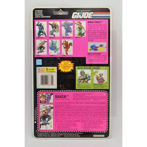 Image of Hasbro G.I. Joe Carded Banzai (1993 v1)
