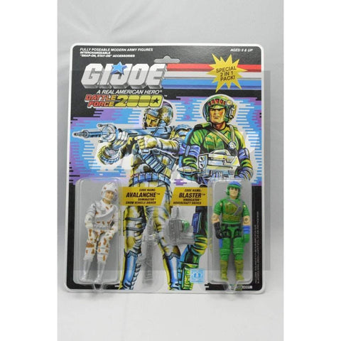 Image of Hasbro G.I. Joe Carded Battle Force 2000 Avalanche & Blaster (1987)