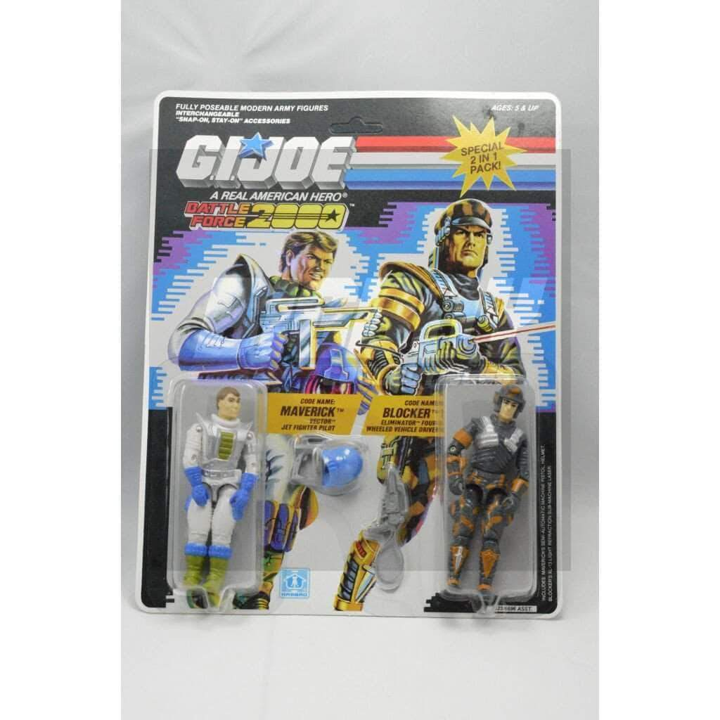 Hasbro G.I. Joe Carded Battle Force 2000 Maverick & Blocker (1987)