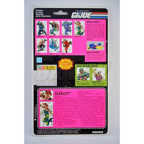 Image of Hasbro G.I. Joe Carded Scarlett (1993 v2)