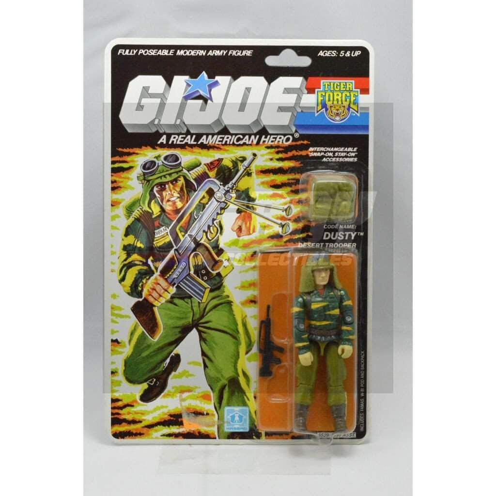 Hasbro G.I. Joe Carded Tiger Force Dusty (1988 v2)