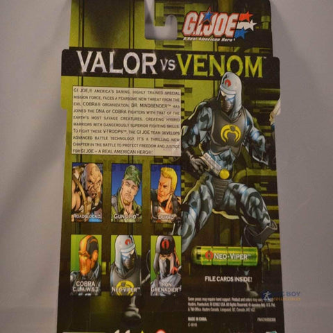 Image of Hasbro G.I. Joe Carded Valor vs Venom  2 pack Gung-Ho & Neo-Viper (2004)