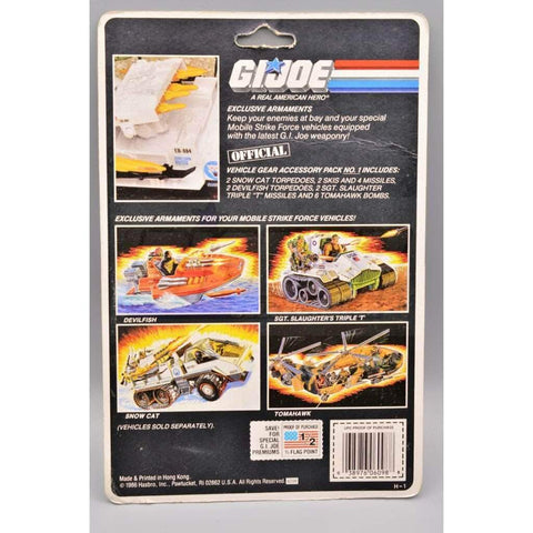 Image of Hasbro G.I. Joe Carded Vehicle Gear Accessory Pack #1  (1987)