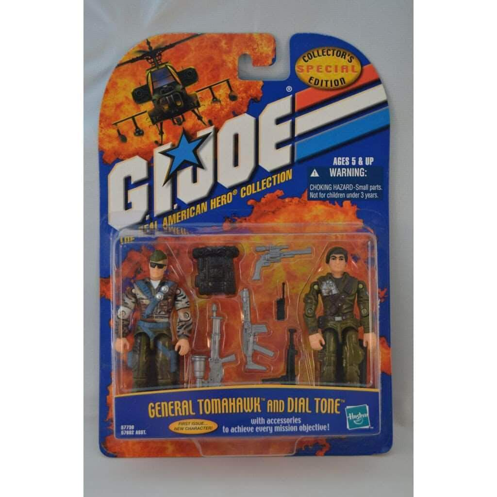 Hasbro G.I. Joe Complete Figures G.I Joe A Real American Hero Collection General Tomahawk & Dial Tone Figures (2000)