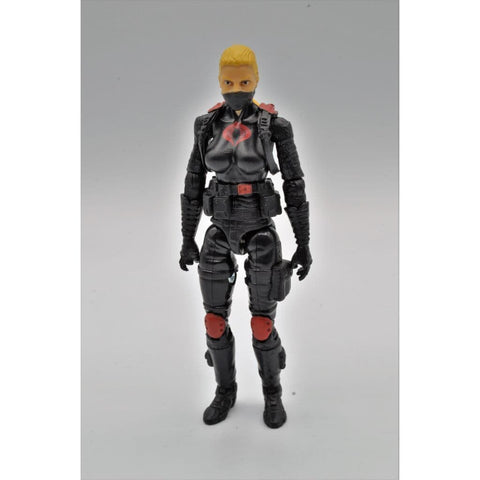 Hasbro G.I. Joe Complete Figures G.I. Joe Club 2018 Exclusive Cobra Night Stalkers Female Trooper (Blonde Hair)