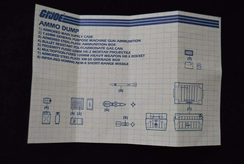 Hasbro G.I. Joe Playset Ammo Dump Unit  (1985)