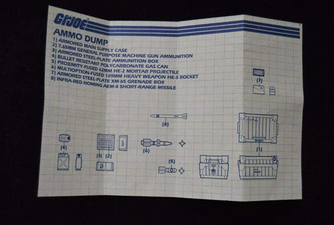Image of Hasbro G.I. Joe Playset Ammo Dump Unit  (1985)