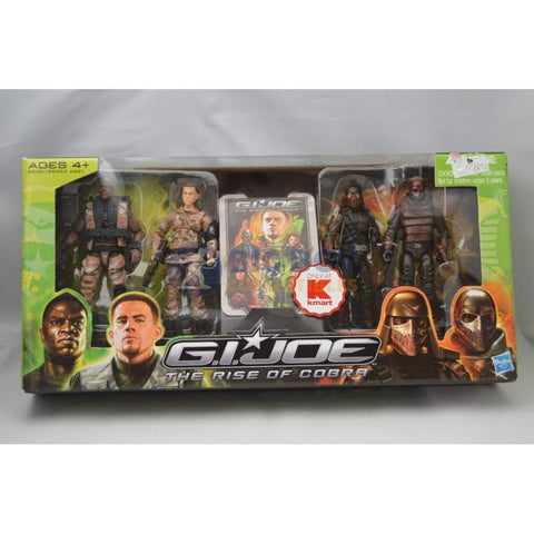 Image of Hasbro G.I. Joe Unopened G.I. Joe Rise of Cobra Kmart Exclusive 4 Pack