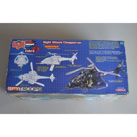 Image of Hasbro G.I. Joe Unopened GI Joe vs Cobra Spy Troops Night Attack Chopper