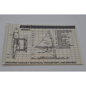 Hasbro Parts 1984 Manta Blueprints