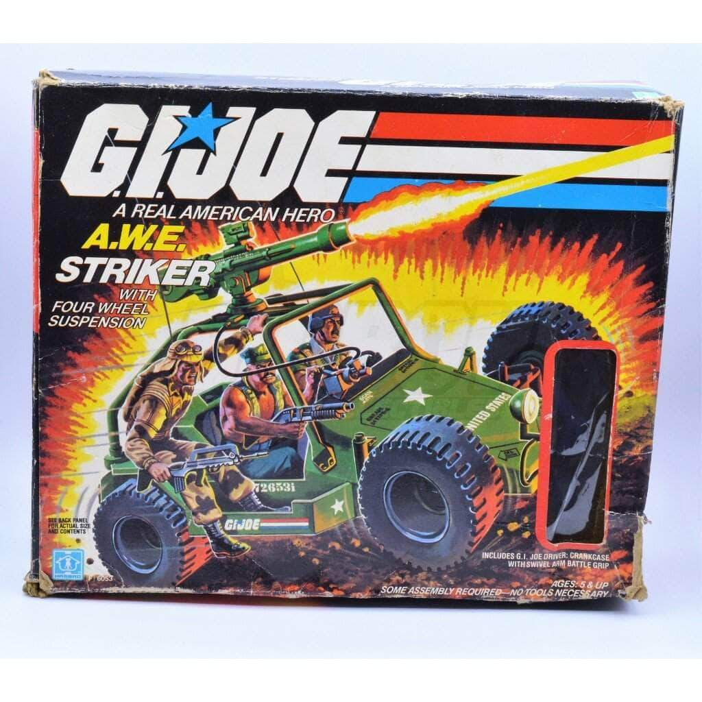Hasbro Parts 1985 Awe Striker Box