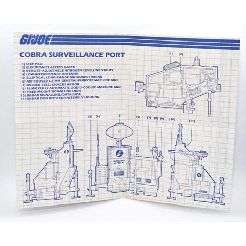 Image of Hasbro Parts 1985 Cobra Surveillance Port Blueprints