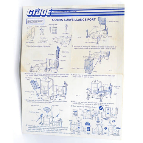 Hasbro Parts 1985 Cobra Surveillance Port Blueprints