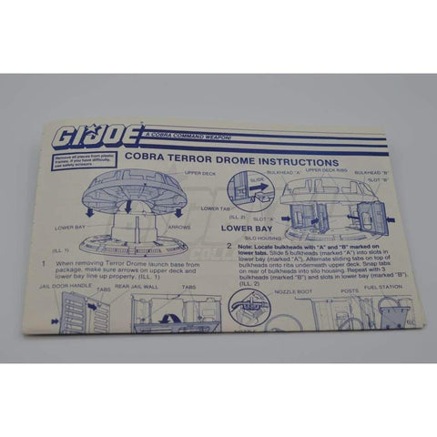 Hasbro Parts 1986 Terror Drome Blueprints