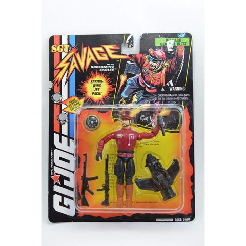 Image of Hasbro SGT Savage SGT. Savage Jet Pack General Blitz Figure (v2)