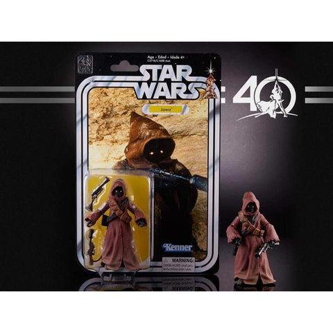 "Image of Hasbro Star Wars Star Wars The Black Series 6"" 40th Anniversary Figure - Jawa"