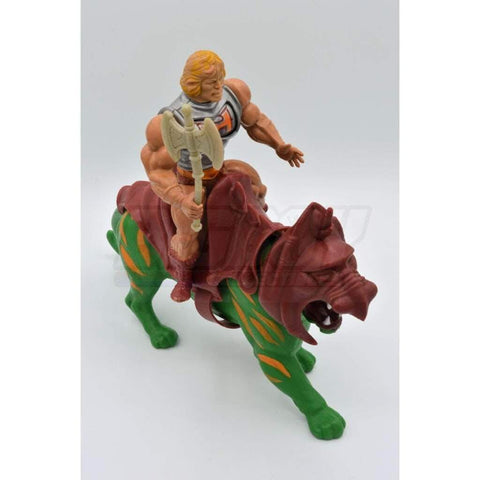 Image of Mattel MOTU 1985 He-man & Battle Cat
