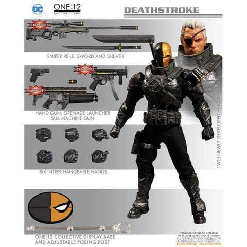 Mezco Toys One: 12 One:12 Collective Stealth Deathstroke PX Previews Exclusive
