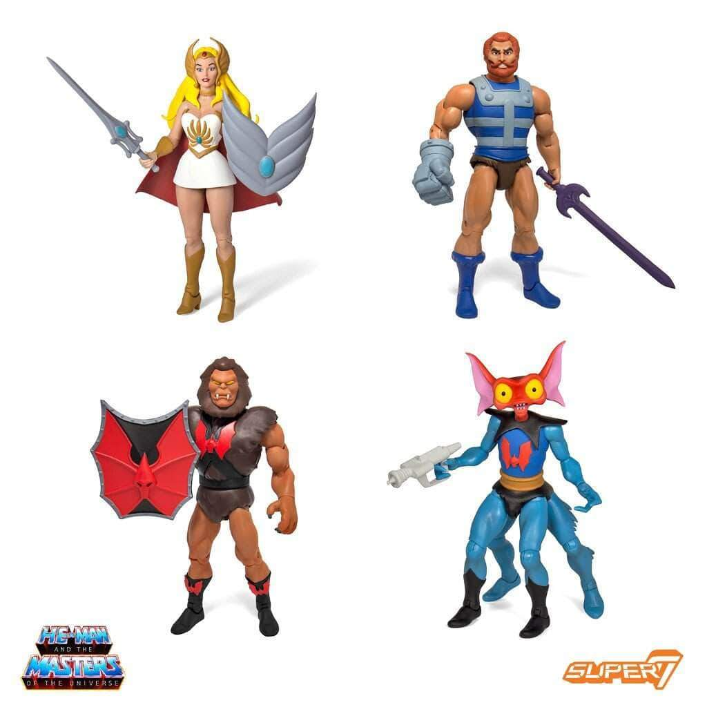 Super7 MOTU Masters of the Universe Classics Club Grayskull Wave 3 Figures Set of 4