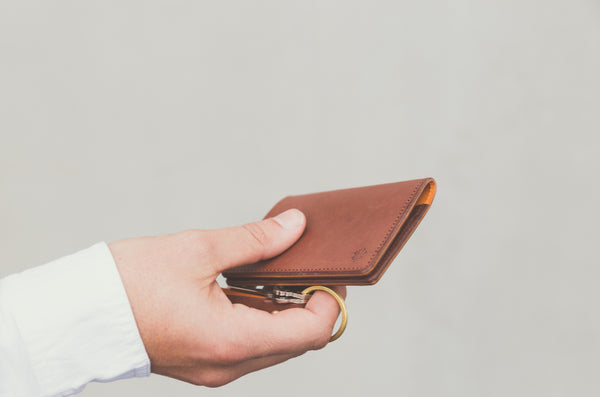 Sonder Leather's Brandy Driving Wallet
