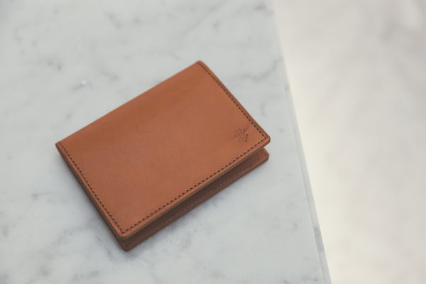 tan card wallet sonder leather