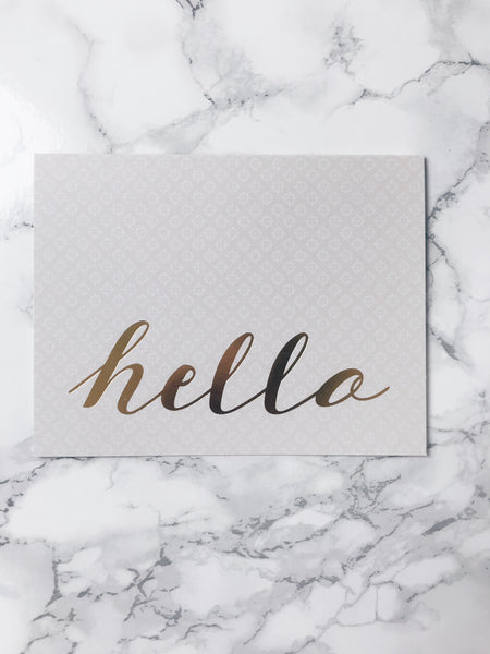 Hello-Greeting Card