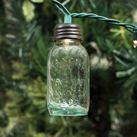 "3½"" Glass Mason Jar Ornament for Christmas Lights"