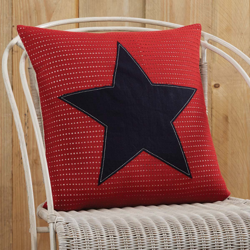 American Star Applique Pillow 18x18