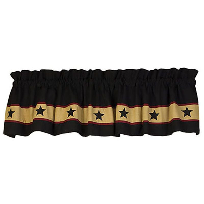 Black Barn Star Valance